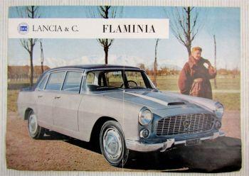Lancia Flaminia Technische Daten auf französisch Caracteristiques