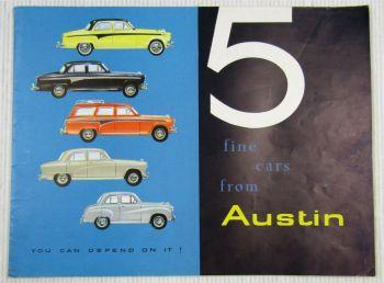 Austin A35 A50 A95 De luxe Saloon/ Countyman A105 Prospekt ca. 1960