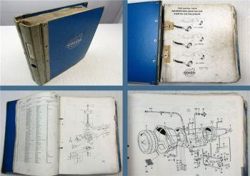 Reservdelskatalog Volvo 140 Series 142 144 146 Parts List Ersatzteilliste 1972