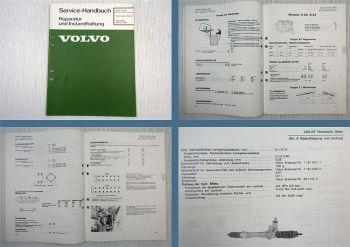 Volvo 242 244 245 1975 - 1981 Technische Daten Werkstatthandbuch