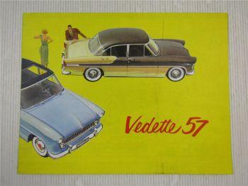 Prospekt Ford Vedette 57 Versailles Regence Marly in Schwedisch