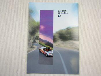 Prospekt BMW Z3 Roadster Beschreibung Technische Daten 1995