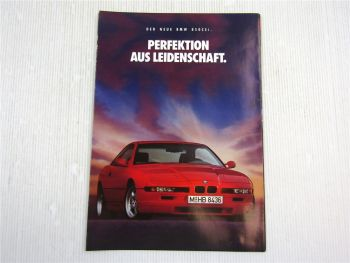 Prospekt BMW 850 CSi Beschreibung Technische Daten 1992