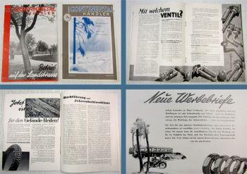 2 Zeitschriften Der Continentalhändler Reifen Februar und Mai 1934