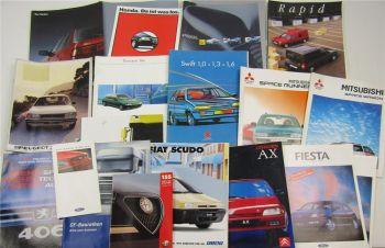 Posten Prospekte Peugeot Citroen Fiat Ford DAF Renault Suzuki Mitsubishi