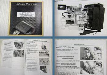 John Deere PowerTech 2,9 4,5 6,8l Serie 300 Motoren Generatorenantrieb Bedienung