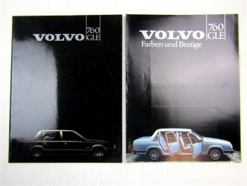 2 Prospekte Volvo 760 GLE Beschreibung Farben Bezüge Technische Daten 1982