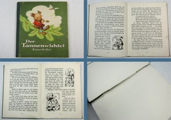 Kinderbuch Der Tannenwichtel Huckepuck sucht seine Tannenbäume Liane Keller 1951