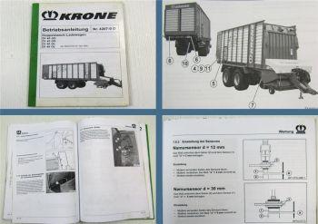 Krone ZX 40 45 GD GL Ladewagen Betriebsanleitung Bedienungsanleitung 2005