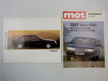 Prospekt Volvo 960 Beschreibung Technische Daten + Sonderdruck 1991
