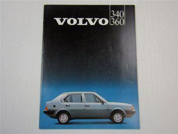Prospekt Volvo 340 360 Beschreibung Technische Daten 1983