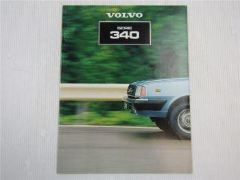 Prospekt Volvo 340 Beschreibung Technische Daten 1981