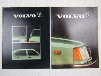 2 Prospekte Volvo 343 345 Beschreibung Technische Daten 1982