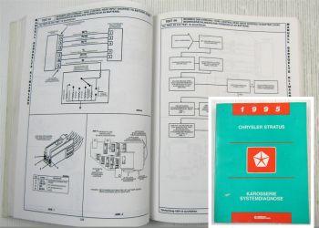 Chrysler Cirrus Dodge Stratus JA 1995 Diagnosehandbuch Systemdiagnose Karosserie