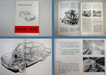 DAF 55 + Kombi Betriebsanleitung Bedienungsanleitung 1971