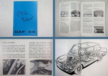 DAF 44 + Ergänzungen Kombi Betriebsanleitung Bedienungsanleitung 05/1971