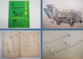 Fortschritt K490 Ballenwerfer Ersatzteilkatalog Ersatzteilliste 1968