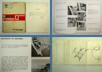 alö Hydro Quicke Instruktioner Reservdelar Bolinder Munktell Volvo Service 1965