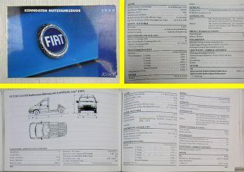 Fiat Nutzfahrzeuge 1999 Kenndaten Handbuch Panda Strada Scudo Ducato Marengo