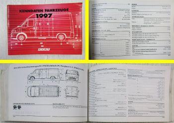 Fiat Kenndaten Nutzfahrzeuge 1997 Handbuch Panda Van Punto Van Scudo Ducato
