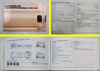 Fiat Kenndaten Handbuch 1995-96 Ducato Panda Uno Punto Scudo Marengo