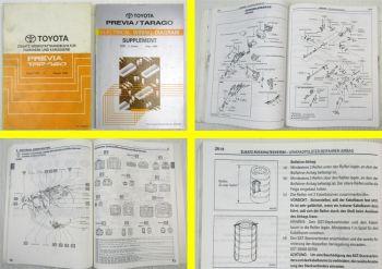 Werkstatthandbuch Toyota Previa Tarago TCR10 11 20 21 1996 Reparaturanleitung