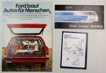 3 Prospekte Ford Modelle Taunus Montclair Lincoln Thunderbird 60er 70er Jahre