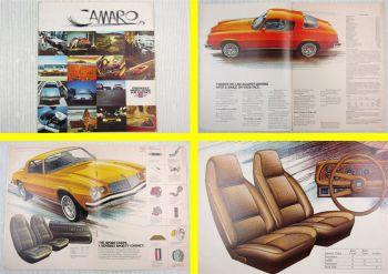 original Prospekt Chevrolet Camaro Sport Coupe Type LT  01/1975 Brochure