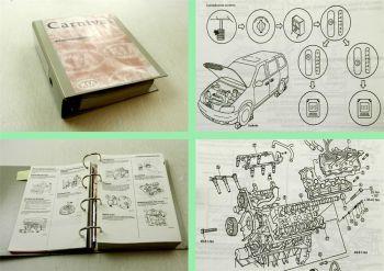 Werkstatthandbuch Kia Carnival Reparaturhandbuch MJ 1999 - 2001 + Schaltpläne