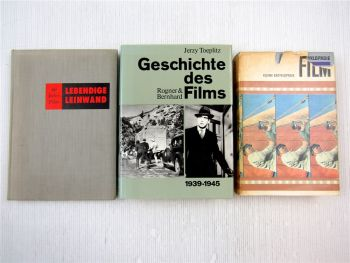 3x Filmgeschichte Lebendige Leinwand, kleine Enzyklopädie, Geschichte des Films
