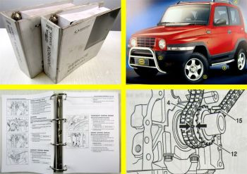 SSangYong Korando Service Manual MY2002 Engine Transmission Maintenance  2 vol.