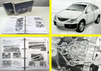 SSangYong Actyon Werkstatthandbuch Reparaturanleitung Wartung in 3 Bänden 2006