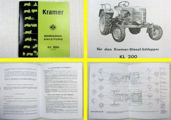 Bedienungsanleitung Kramer KL200 Schlepper