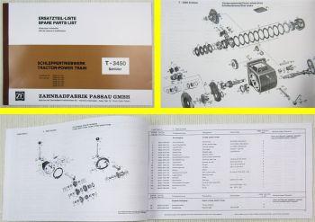 ZF T-3450 Schlüter Triebwerk / Getriebe Ersatzteilliste Spare Parts List