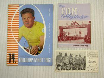 Friedensfahrt DDR Sportler kämpfen für Frieden 1952 + 1961