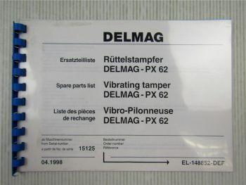 Delmag PX 62 Rüttelstampfer Ersatzteilliste Ersatzteilkatalog Parts List 1998