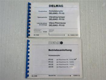 Delmag PX 62 Rüttelstampfer Ersatzteilliste + Betriebsanleitung 1998