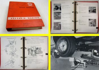 Opel Ascona 16 Manta A manuel de reparation Manuel de latelier Annees 1970