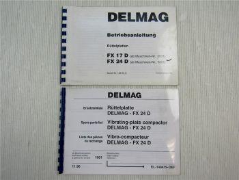Delmag FX 24 D Rüttelplatte Ersatzteilliste + Betriebsanleitung Bedienung 1996
