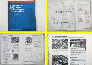Reparaturleitfaden VW T3 Transporter Werkstatthandbuch 4-Gang Getriebe 091/I