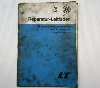 VW LT ab 75 5 Gang Schaltgetriebe 008 Achsantrieb Werkstatthandbuch 1982