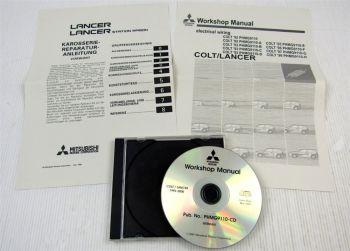 Mitsubishi Colt Lancer 1992 - 2000 Karosserie Reparaturanleitung Schaltpläne CD