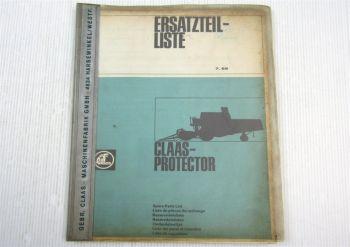 Claas Protector Mercator 50 Mähdrescher Ersatzteilliste Ersatzteil-Bildkatalog