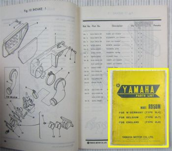 Yamaha Model RD50M Type 2L4 2L7 2L8 Parts list 1978 Ersatzteilliste Dec. 1977