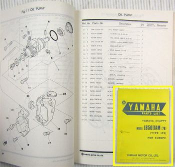 Yamaha Chappy LB50IIAM Type 1F0 for Europe Parts list Ersatzteilliste 10/1975