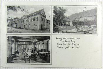 AK Braunsdorf bei Braunsbedra Geiselthal Gasthof zur Deutschen Eiche Foese