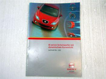 Lehrheft Nr. 108 Seat Altea Leon Bi Xenon Scheinwerfer dynamisches Kurvenlicht