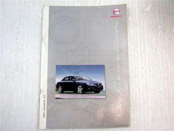 Lehrheft Nr. 122 Seat EXEO Typ 3R Limousine Konstruktion & Funktion 2008