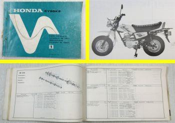 Teilekatalog Parts Catalog Honda CY50 K2 Chaly Ersatzteilliste Stand 1978