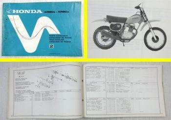 Honda XR80Z XR80A Parts Catalogue Ersatzteile Teilekatalog Catalogue de Pieces